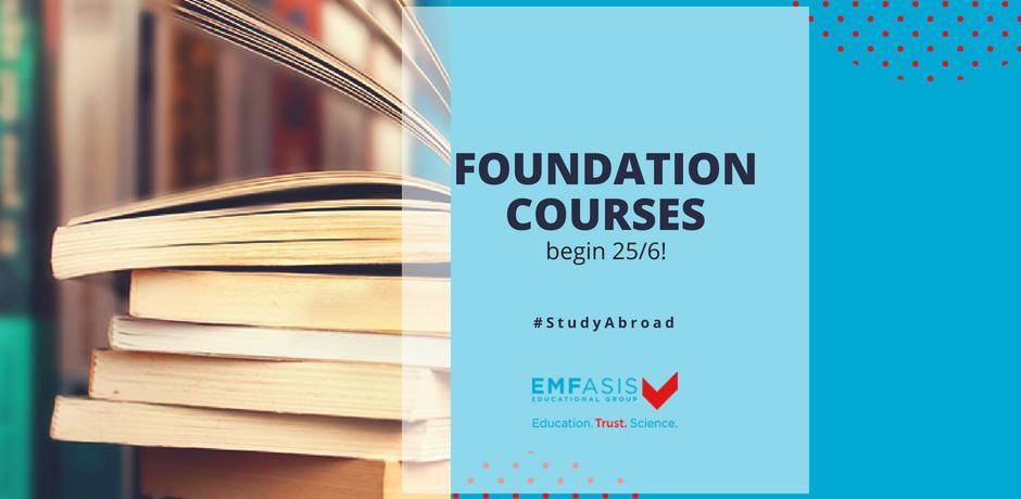 προγραμματα προετοιμασίας foundation courses