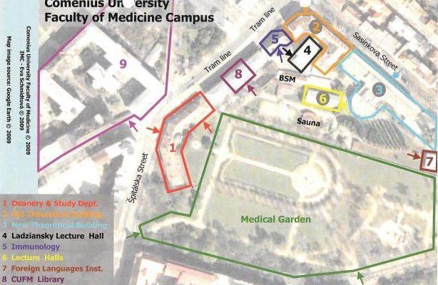χαρτης comenius university campus ιατρικη σχολη οδοντιατρικη σχολη